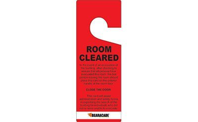 Room Cleared Door Tags Bearacade Lockdown Response Solutions