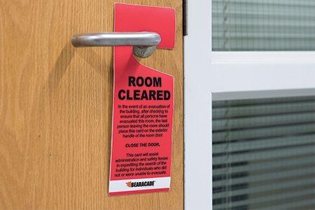 Room Cleared Door Tags Bearacade Lockdown Response Solutions