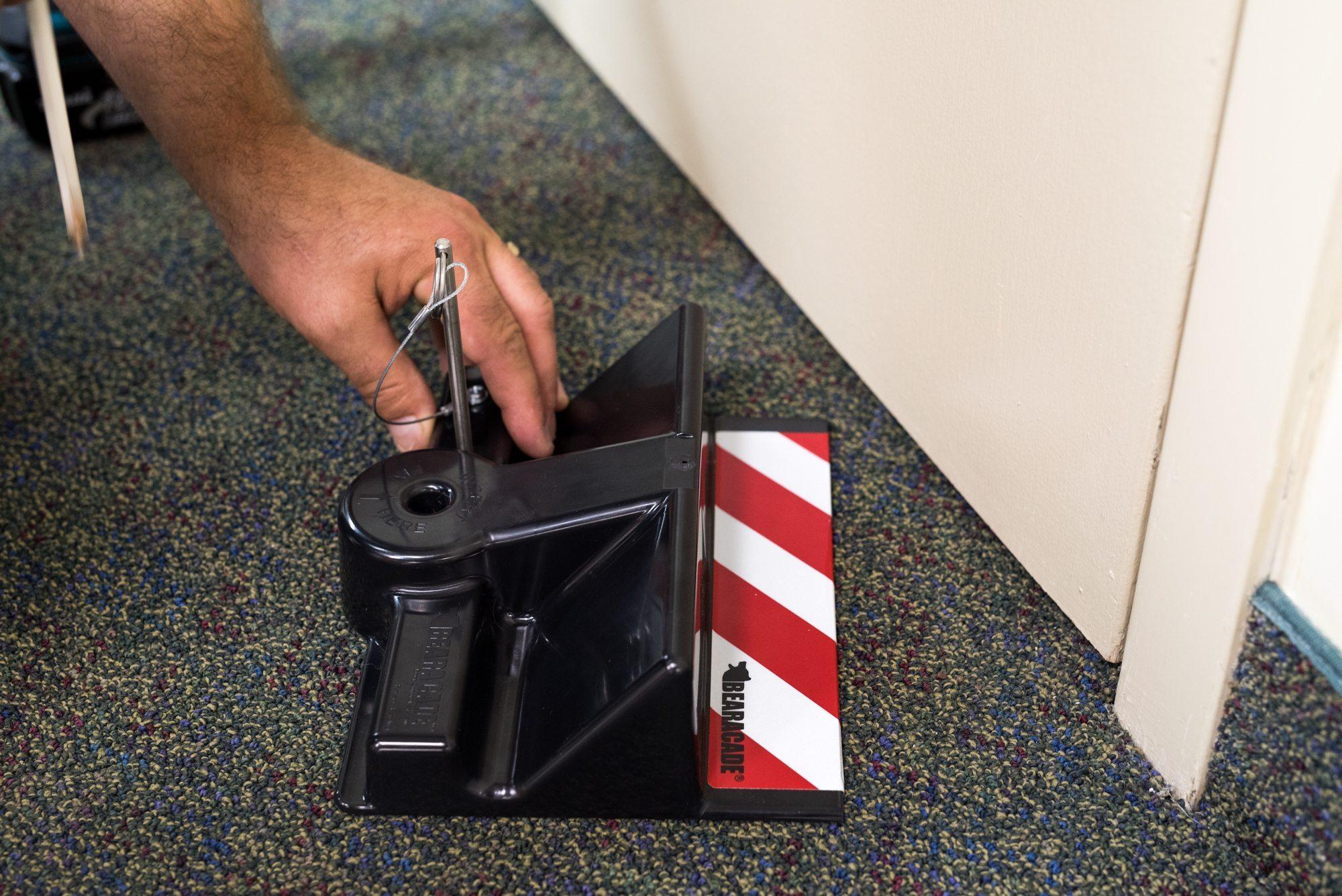 B2 Lockdown System For Inward Opening Doors Bearacade Lockdown